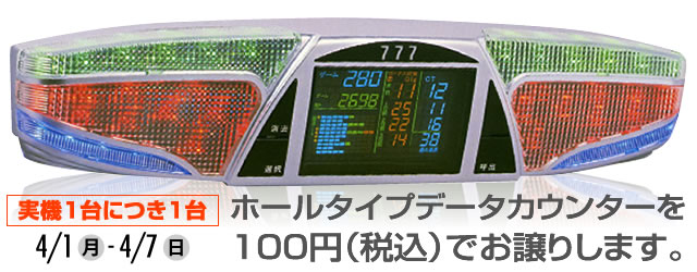 100円データカウンターキャンペーン